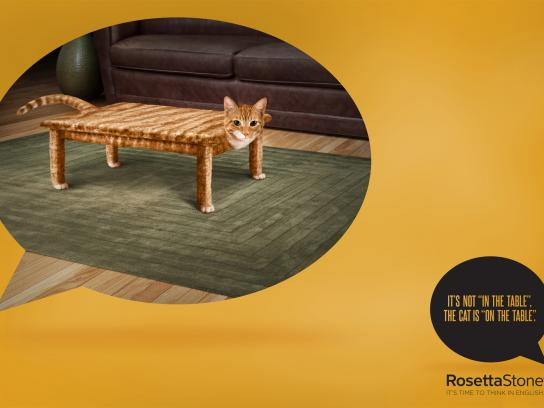 Rosetta Stone Outdoor Ad -  Mistakes, Cat