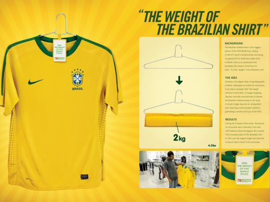 Centauro Ambient Ad -  The Weight Of The Brazilian Shirt