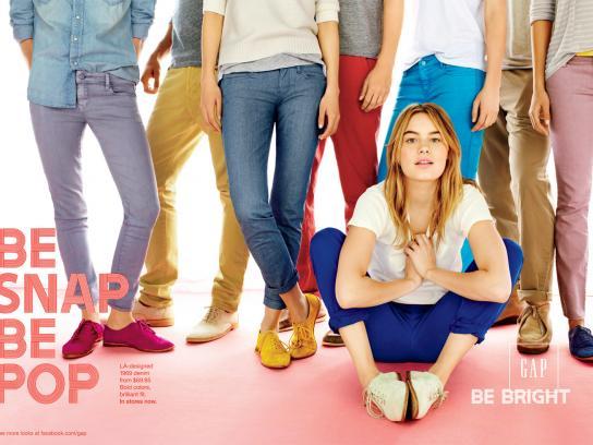 GAP Print Ad -  Blonde group