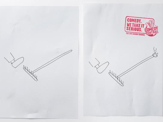 Comedy Central Print Ad -  Rake