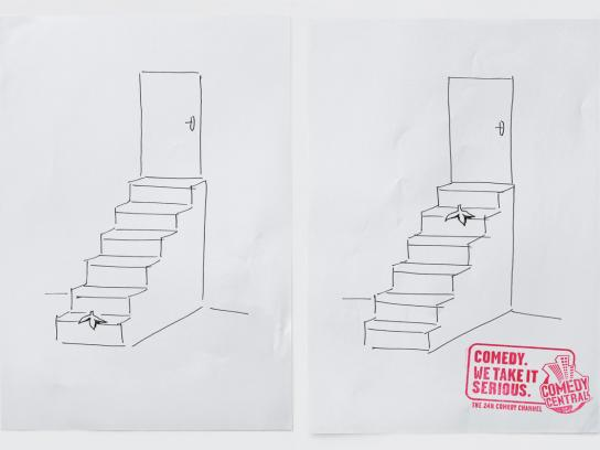 Comedy Central Print Ad -  Steps