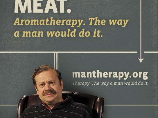 ManTherapy.org Outdoor Ad -  Manly Mental Health Tips, Grill