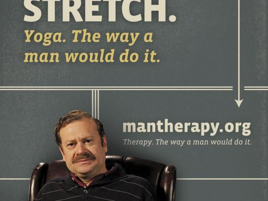 ManTherapy.org Outdoor Ad -  Manly Mental Health Tips, Stretch