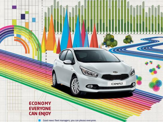 KIA Print Ad -  Economy that's fun to drive, 2