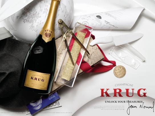 Krug Print Ad -  Jean Nouvel