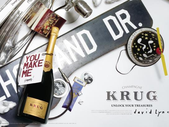 Krug Print Ad -  David Lynch