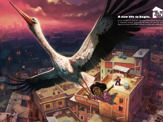 Lar do Caminho Print Ad -  New life