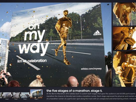 Berlin Marathon Outdoor Ad -  The Five Stages of a Marathon, Celebration