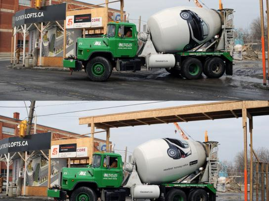 Smart Ambient Ad -  City cement trucks