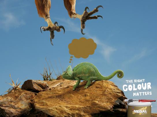 Medal Paints Print Ad -  Chameleon