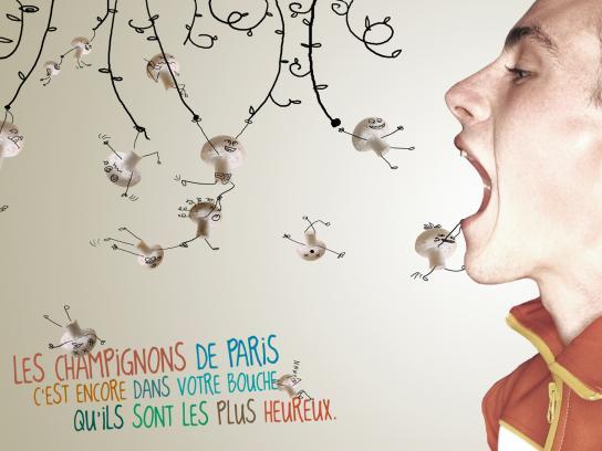 Les Champignons de Paris Print Ad -  Jungle