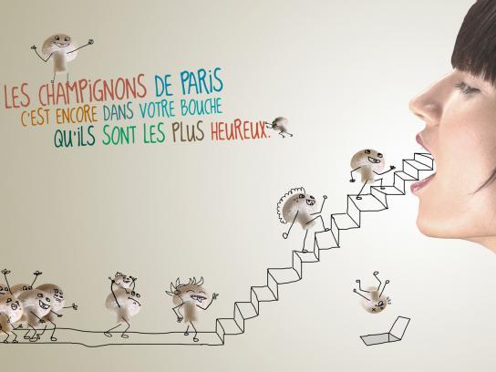 Les Champignons de Paris Print Ad -  Stairs