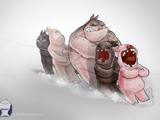 Odol-Med Print Ad -  Pigs