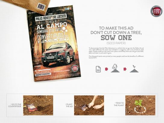 Fiat Print Ad -  Seed paper