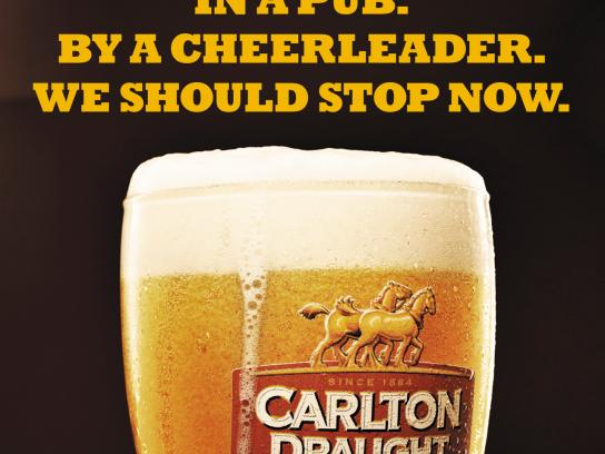 Carlton Outdoor Ad -  Cheerleader