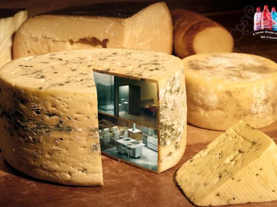 Ajax Print Ad -  Cheese