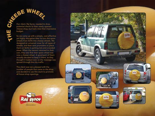 Raj Syrov Outdoor Ad -  Cheese Wheel