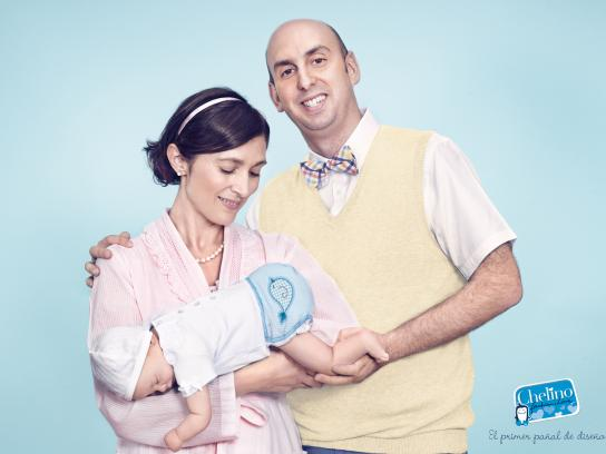 Chelino Print Ad -  The new designer nappy, Dad