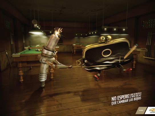 Chevrolet Print Ad -  Spark plug