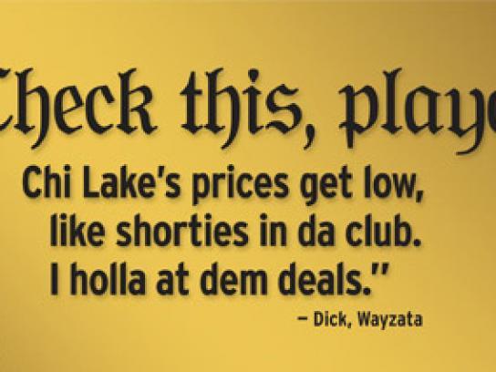 Chicago Lake Liquors Print Ad -  Check