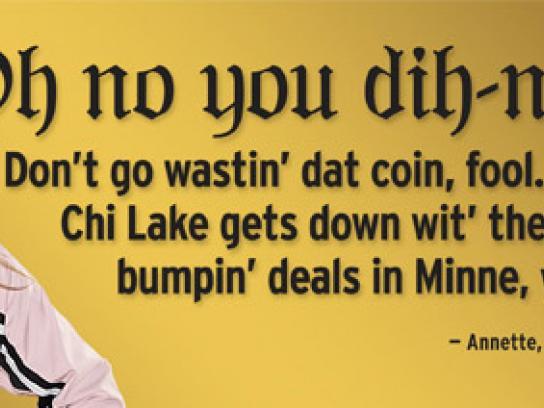 Chicago Lake Liquors Print Ad -  Oh no