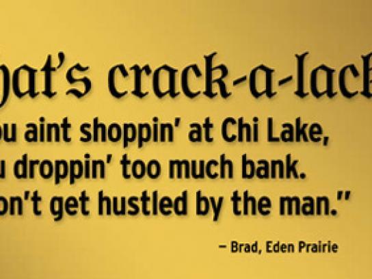 Chicago Lake Liquors Print Ad -  What