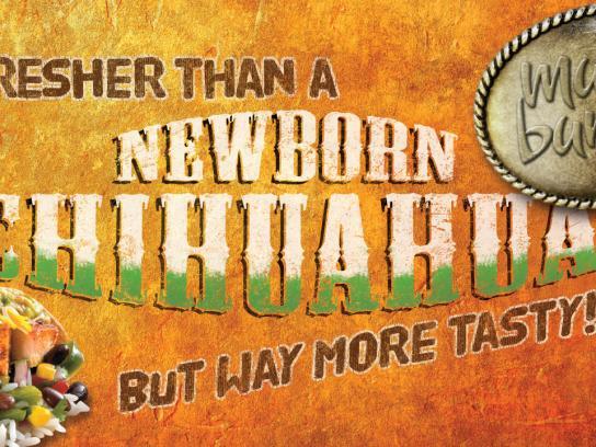 Mucho Burrito Outdoor Ad -  Chihuahua