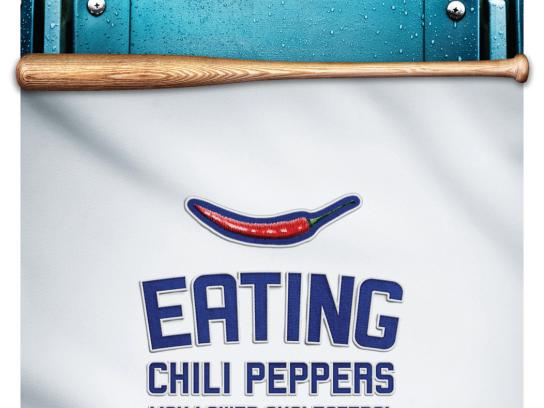 Kaiser Permanente Print Ad -  LA Dodgers / Health Tips, Chilli peppers