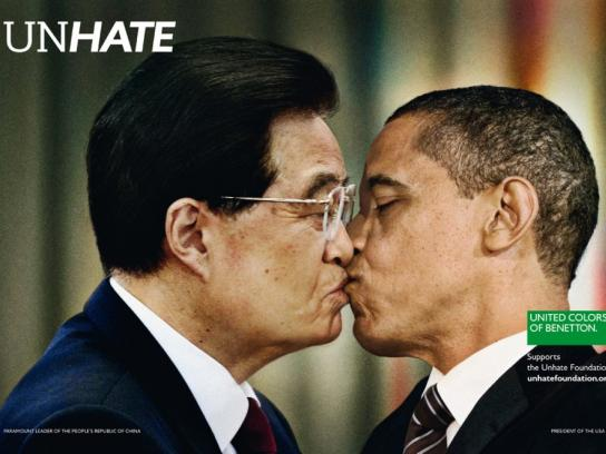 Benetton Print Ad -  Unhate, China-USA