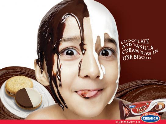 Cremica Print Ad -  Chocolate & Vanilla