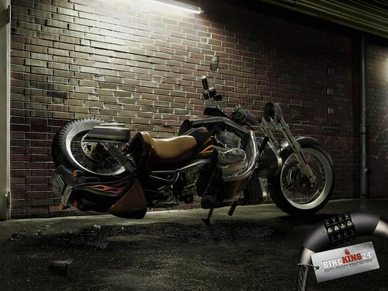 Bikeking24 Print Ad -  Twisted Motorcycles, Chopper
