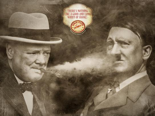 Esch cafe Print Ad -  Churchill vs Hitler
