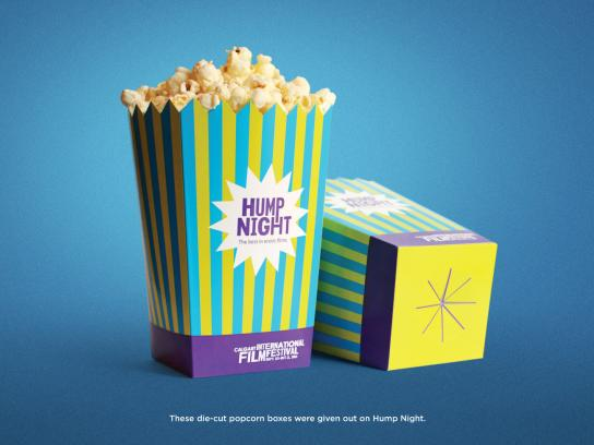 Calgary International Film Festival Direct Ad -  Hump Night Popcorn Boxes