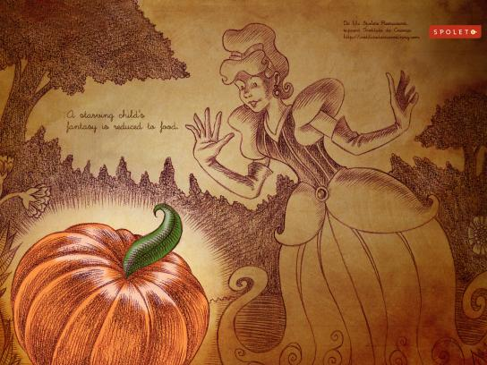 Spoleto Print Ad -  Food Fantasy, Cinderela