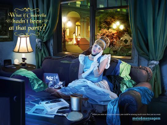Meio e Mensagem Print Ad -  Cinderella