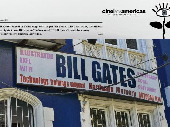 Cine las Américas Print Ad -  Bill