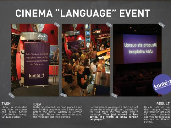 Kontext Ambient Ad -  Cinema invitation