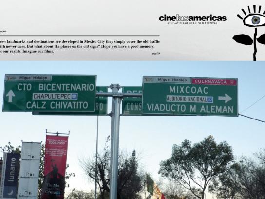 Cine las Américas Print Ad -  Sign