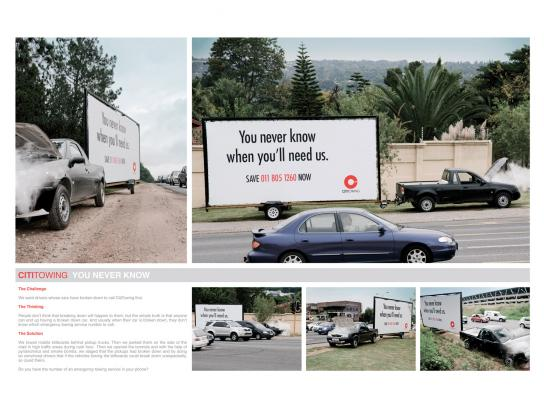 CitiTowing Ambient Ad -  You never know