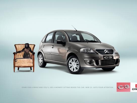 Citroën Print Ad -  Monkey