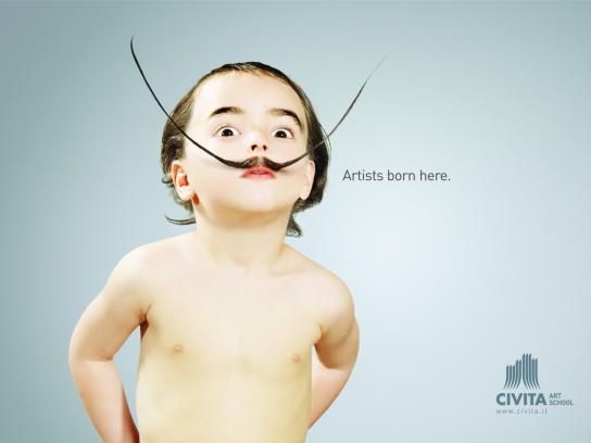 Civita Art School Print Ad -  Baby Dali