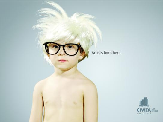 Civita Art School Print Ad -  Babu Warhol