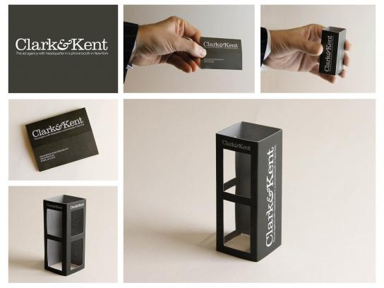 Clark&Kent Direct Ad -  Phone Booth Business Card
