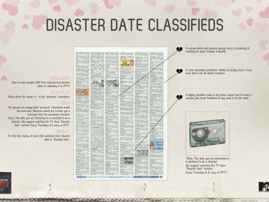 MTV Print Ad -  Disaster date classifieds