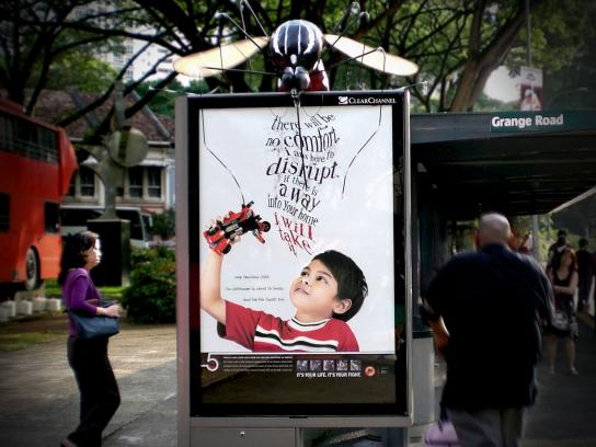 Clear Outdoor Ad -  Mosquito
