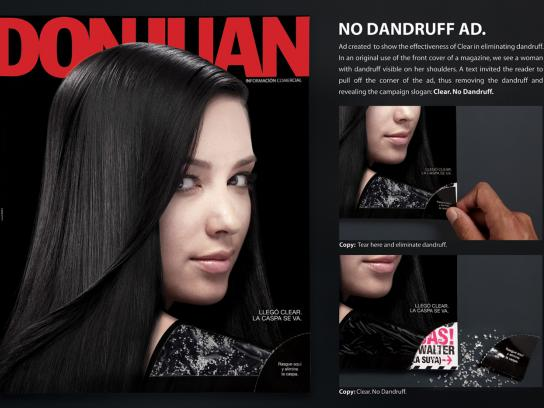 Clear Ambient Ad -  No dandruff