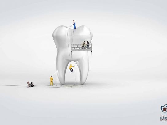Clermont Family Dentistry & Dentures Print Ad -  Cleaning
