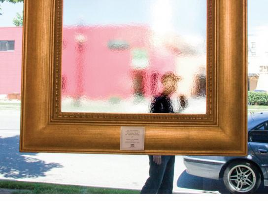 Utah Museum of Fine Arts Ambient Ad -  Frame