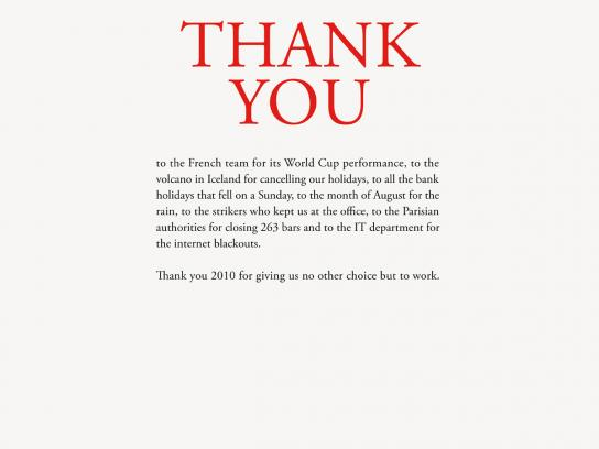 BBDO Print Ad -  Thank you