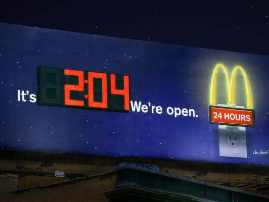 McDonald's Outdoor Ad -  Clock Billboard